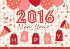 Free vector Lovely 2016 new year card #31194