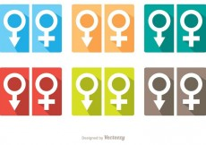 Free vector Man And Woman Symbol Rest Room Icons Vector Pack #34055