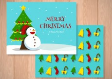 Free vector Merry christmas card #28164