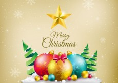 Free vector Merry christmas decoration background #32896