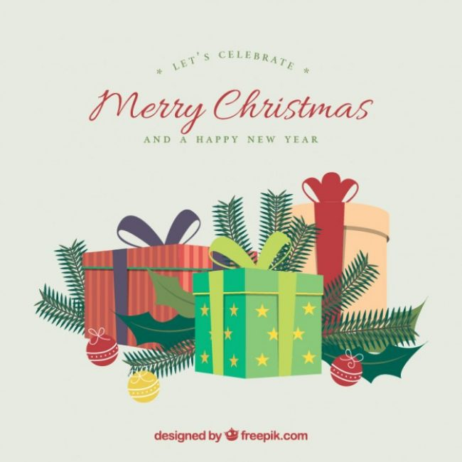 Free vector Merry christmas gifts background #29720