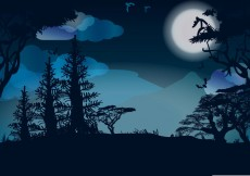 Free vector Moon Night Vector #31125