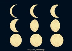 Free vector Moon Phases Icons #31761