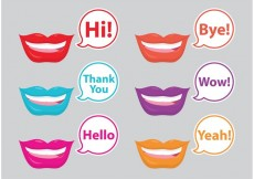 Free vector Mouths And Bubbles #32923