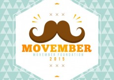 Free vector movember label #29842