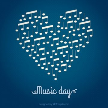 Free vector Music day, heart background #28605