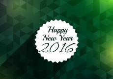 Free vector New year greeting with green background #31872
