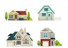 Free vector Nice houses collection #29369