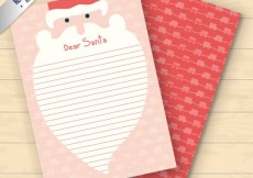 Free vector Nice letter to santa claus #29215