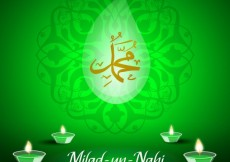 Free vector Ornamental milad un Nabi backrgound #31806