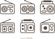 Free vector Outline Radio Vector Pack #33518