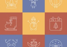Free vector Outlined christmas icons #33222