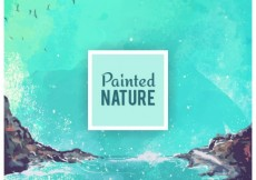 Free vector Painted nature background #30068