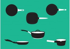 Free vector Pan with Handle Vector Set #34558