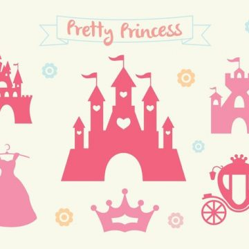 Free vector Pink Princess Castle Vector Set #34480