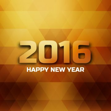 Free vector polygonal card of happy new year #28985