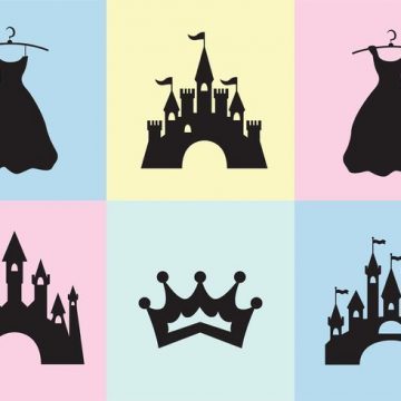 Free vector Princess Castle Vector Set #34482
