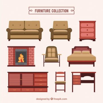 Free vector Realistic furniture collection #28797