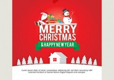 Free vector Red christmas card template #31750