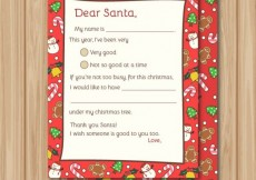 Free vector Red Santa claus letter #31636