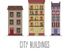 Free vector Residential city buildings #33170