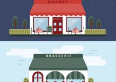 Free vector Restaurant buildings #34371