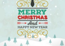 Free vector Retro merry christmas lettering background #30358