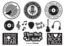 Free vector Rock and Roll Elements #34506