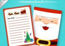 Free vector Santa claus letter in funny style #31404