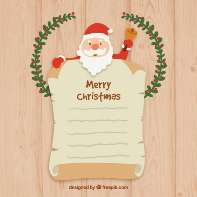Free vector Santa claus letter template