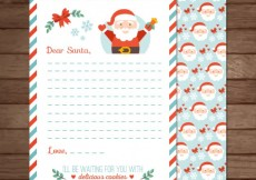 Free vector Santa claus letter template #29299