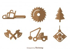 Free vector Sawmill Icons #28328