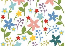Free vector Seamless Floral Background Vector #29957