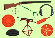 Free vector Set of Clay Pigeon Equipment #28484