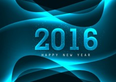 Free vector Shiny 2016 New Year Background #32322