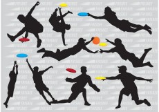 Free vector Silhouette Frisbee Players Vectors #28211
