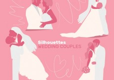 Free vector Silhouettes of wedding couples #31586