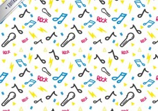 Free vector Sketchy music pattern #34391