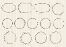 Free vector Sketchy Ornament Vectors and Badges #34136