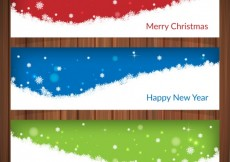 Free vector Snow christmas banners #29912