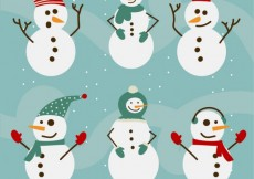 Free vector snowman collection #28443