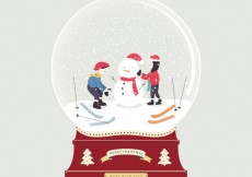 Free vector Snowy christmas ball #32542