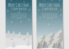 Free vector Snowy christmas banners template #31740
