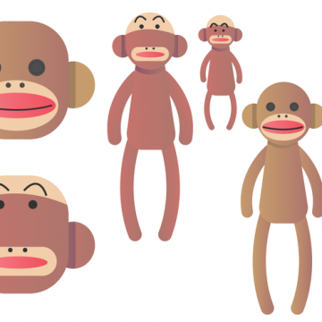 Free vector Sock Monkey Vector Set #29124