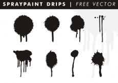 Free vector Spraypaint Drips Free Vector #31824