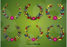 Free vector Spring and Flower Wreaths #32670