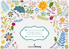 Free vector Spring Floral Vector Background #34530