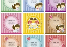 Free vector Striped wedding labels #34169