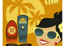 Free vector Summer life illustration #34279