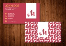 Free vector Swirl Business Card Template Vector #28694